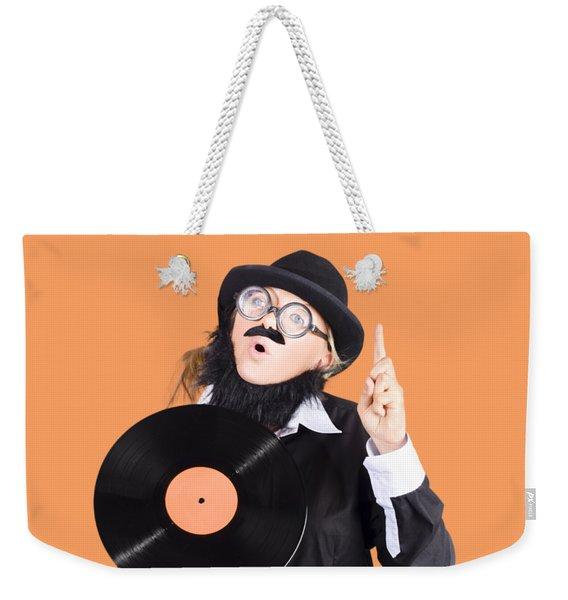Woman Disc Jockey Weekender Tote Bag