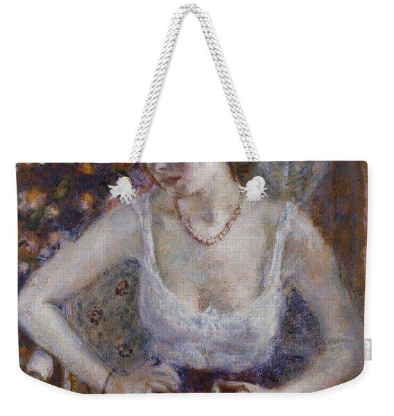 Woman Dressing Weekender Tote Bag