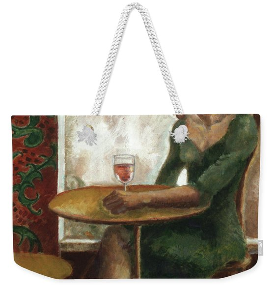 Woman In A Paris Cafe Weekender Tote Bag