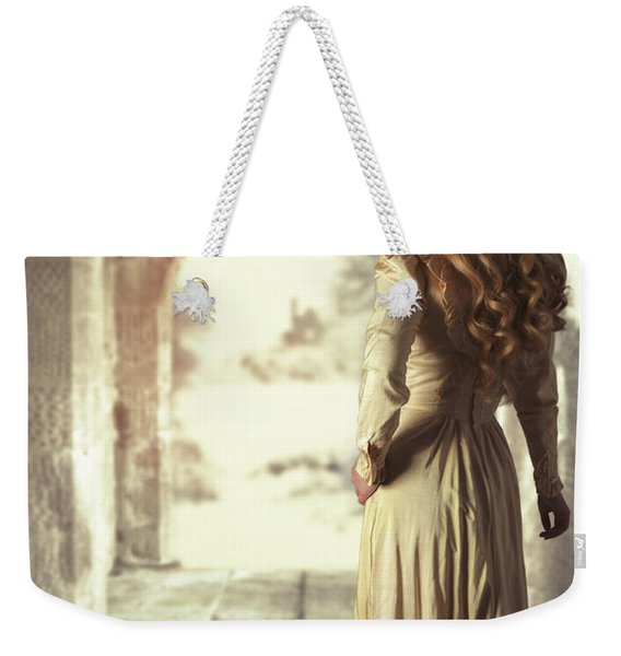 Woman In Archway Weekender Tote Bag