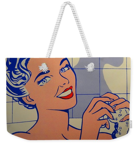 Woman In Bath Weekender Tote Bag