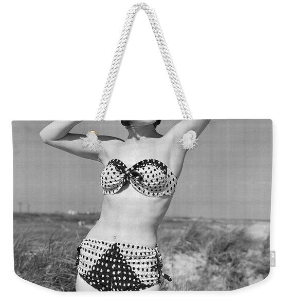 Woman In Bikini, C.1950s Weekender Tote Bag