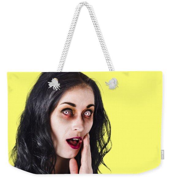 Woman In Horror Makeup Weekender Tote Bag