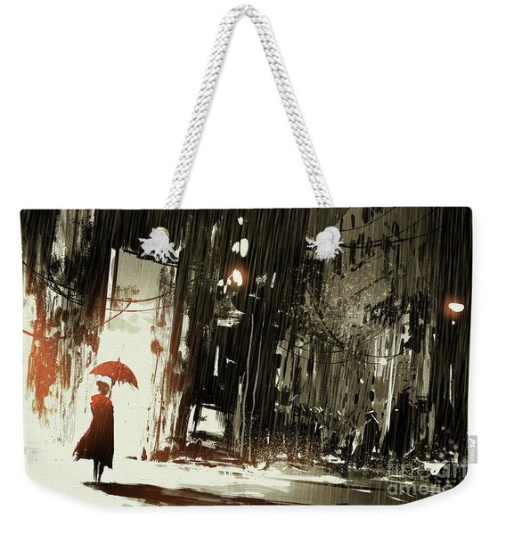 Woman In The Destroyed City Weekender Tote Bag