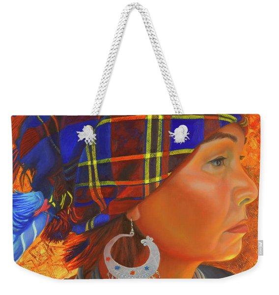 Woman In The Shadow Weekender Tote Bag