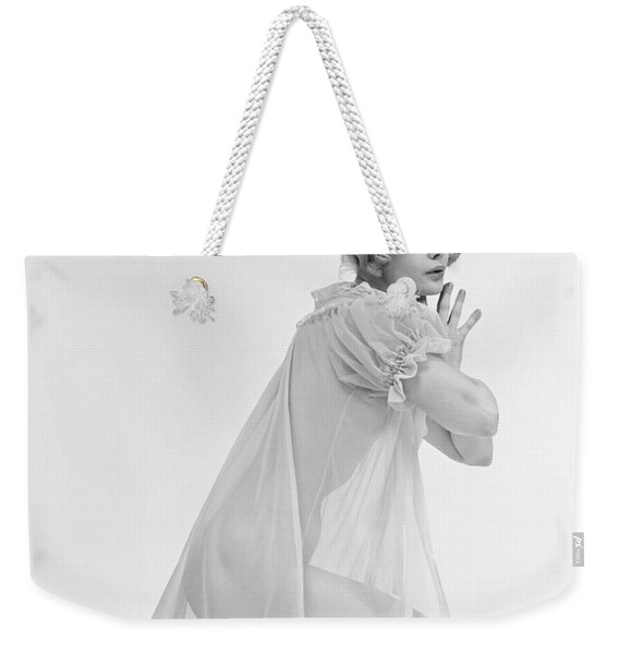 Woman Kneeling In Sheer Gown, C.1960s Weekender Tote Bag