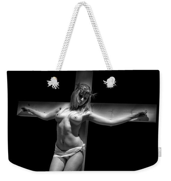 Woman On Cross Weekender Tote Bag