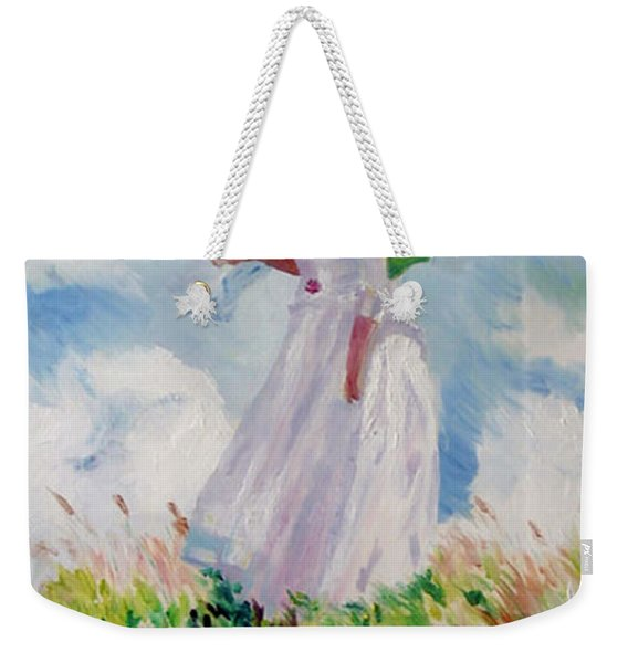 Woman With A Parasol Weekender Tote Bag