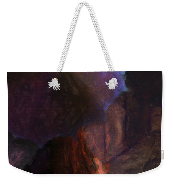 Woman With An Umbrella Weekender Tote Bag