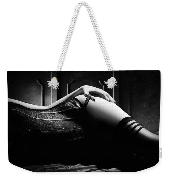 Woman With Black Corset Weekender Tote Bag