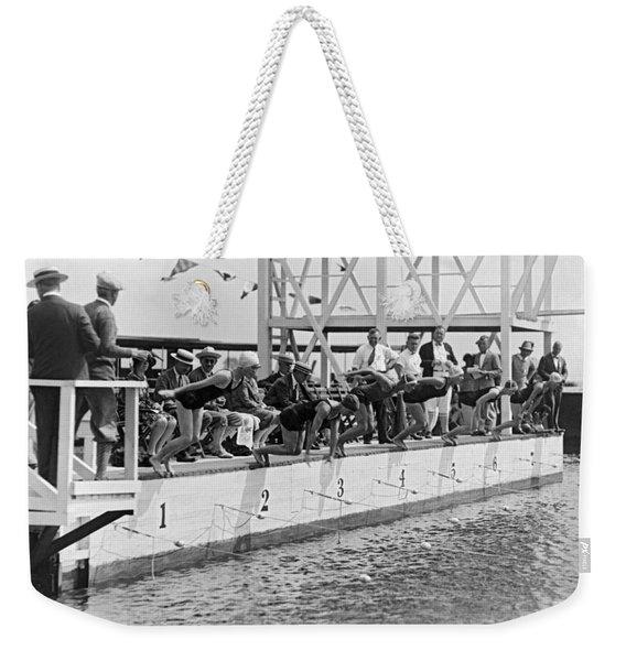Women's Swimming Championship Weekender Tote Bag