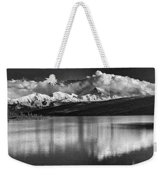 Wonder Lake In Black And White Weekender Tote Bag
