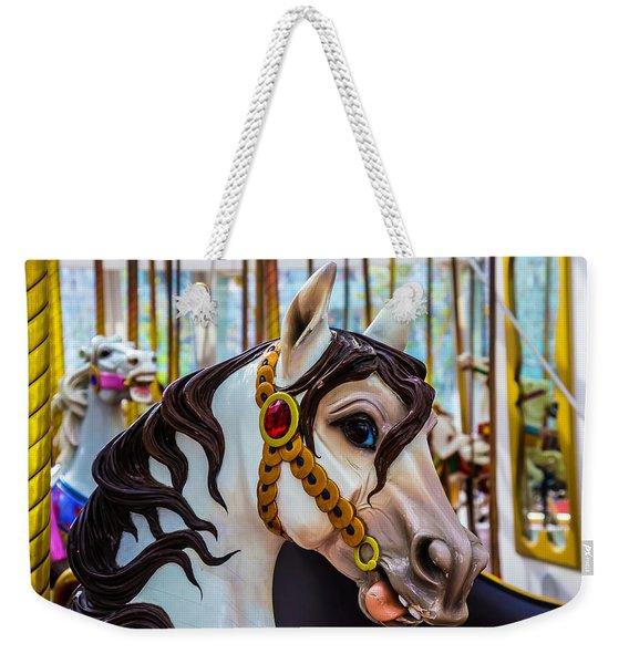 Wonderful Carrousel Horse Portrait  Weekender Tote Bag