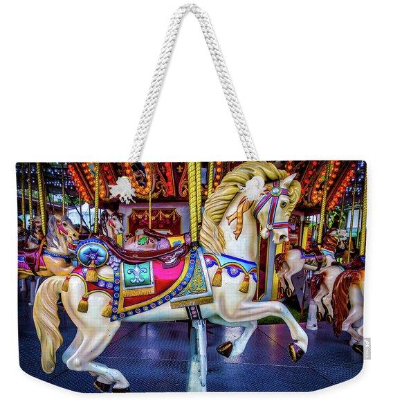 Wonderful Carrousel Horse Ride Weekender Tote Bag