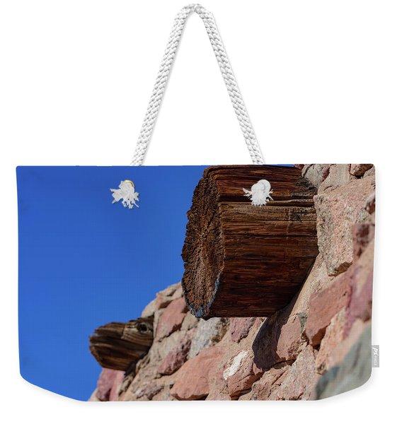 Wood And Stone Weekender Tote Bag