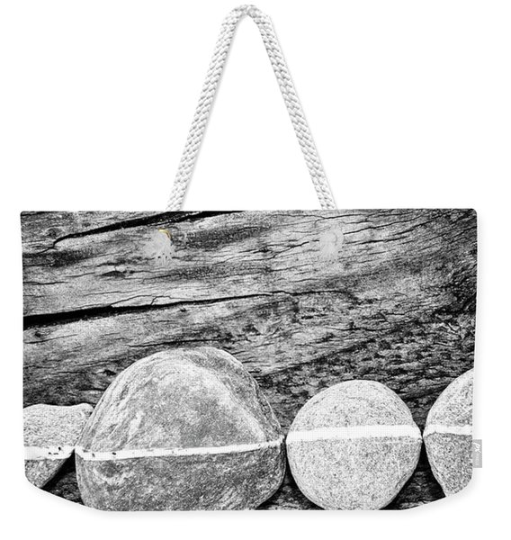 Wood And Stones - Vertical Weekender Tote Bag