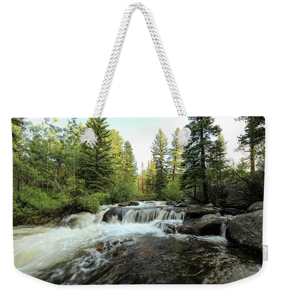Wood Bridge In The Distance Weekender Tote Bag