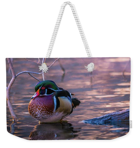 Wood Duck Resting Weekender Tote Bag