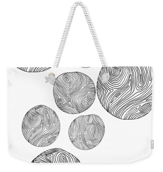 Wood Print Vertical Weekender Tote Bag
