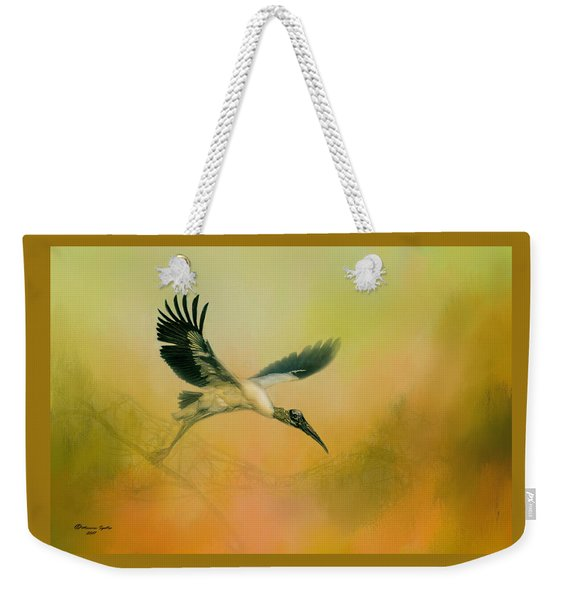 Wood Stork Encounter Weekender Tote Bag
