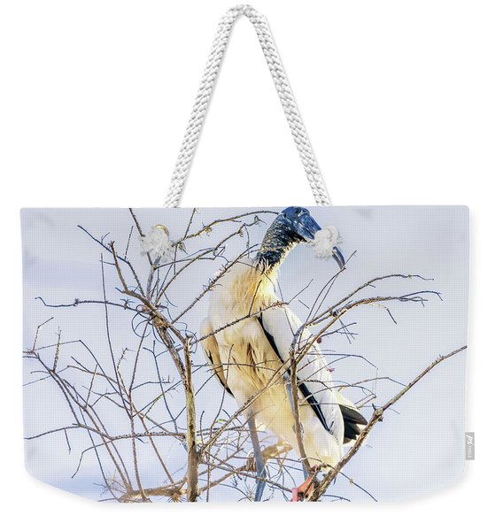 Wood Stork Sitting In A Tree Weekender Tote Bag