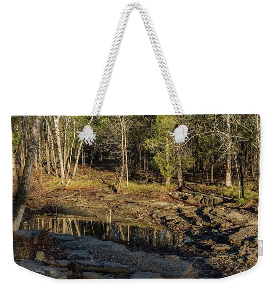Wooded Backwash Weekender Tote Bag