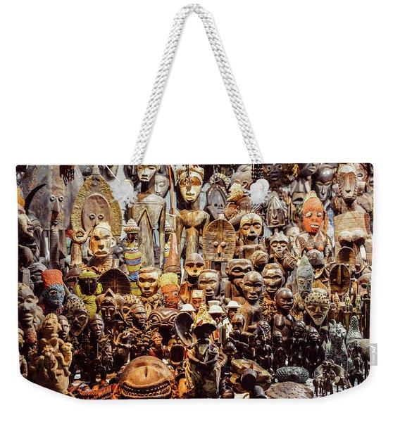 Wooden African Carvings Weekender Tote Bag