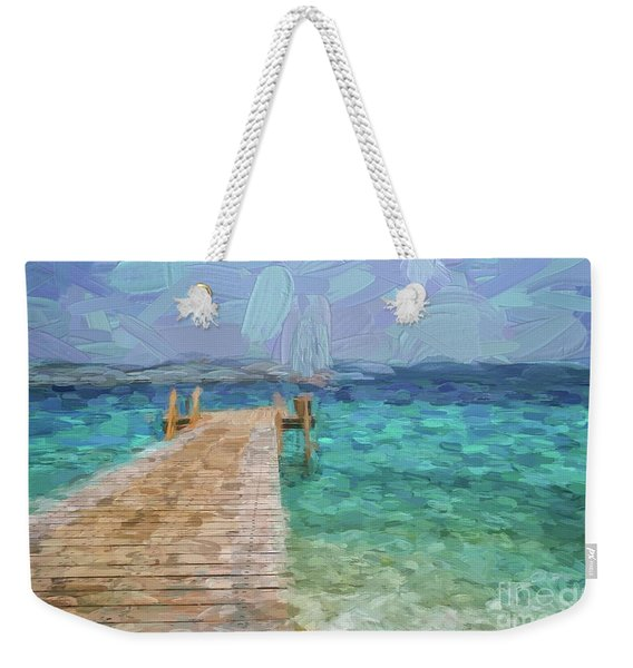 Wooden Jetty And Boat Weekender Tote Bag