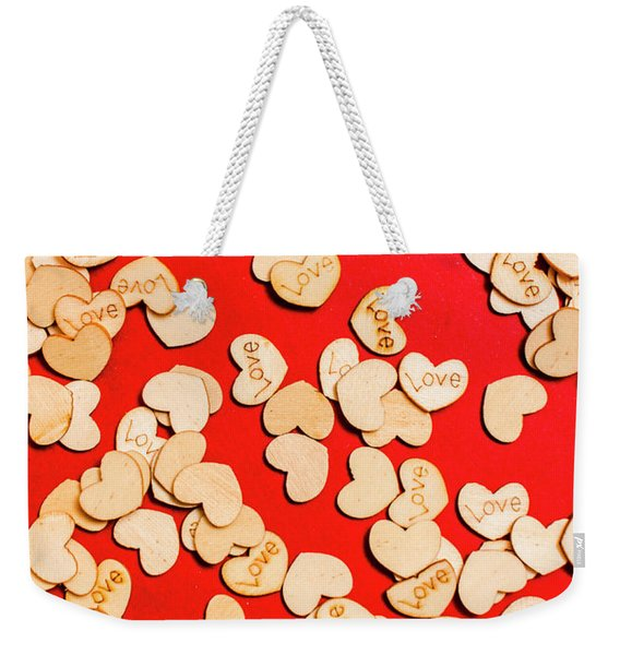 Wooden Notes Of Red Sentiment Weekender Tote Bag