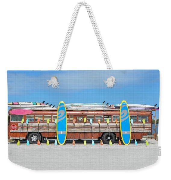 Wooden Paddle Board Bus Weekender Tote Bag