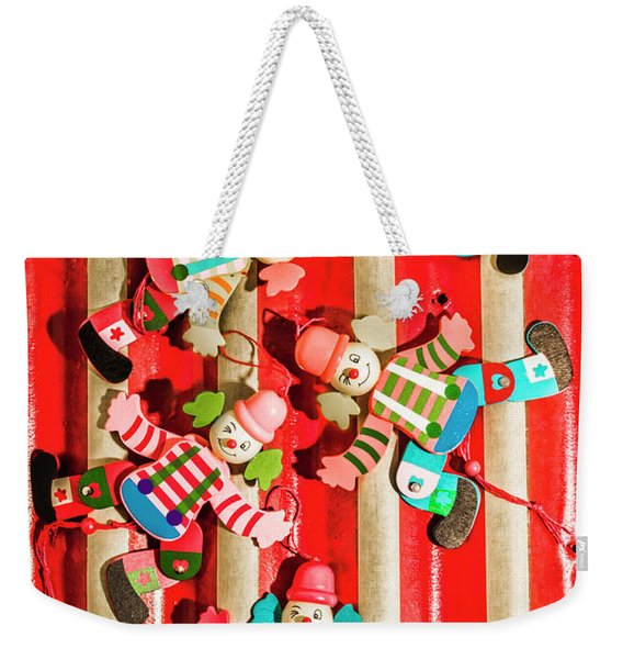 Wooden Puppet Show Weekender Tote Bag