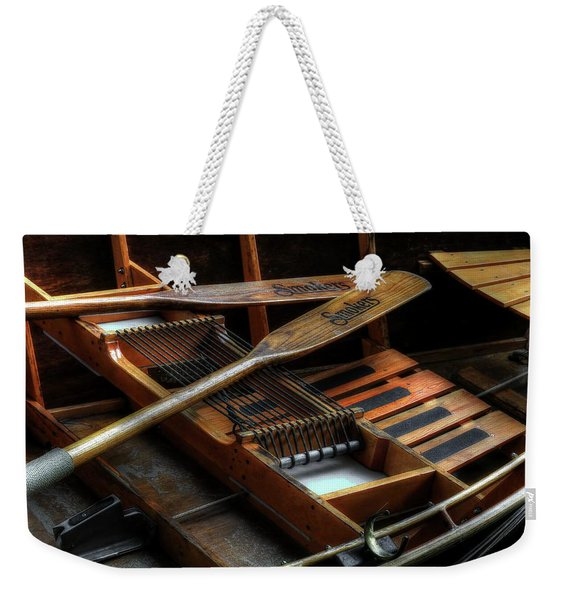 Wooden Rowboat And Oars Weekender Tote Bag