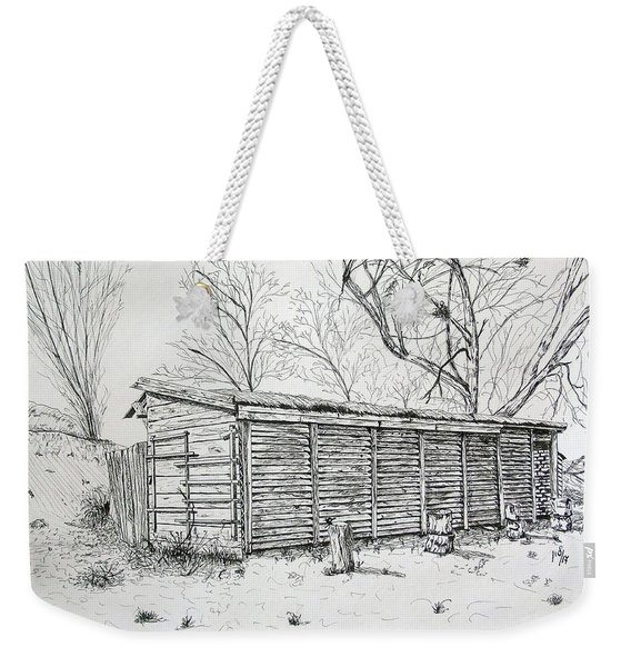 Wooden Shed Weekender Tote Bag