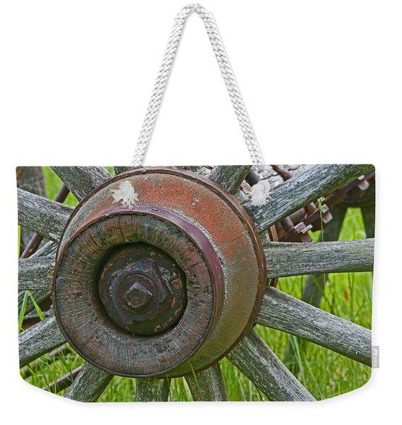 Wooden Spokes Weekender Tote Bag
