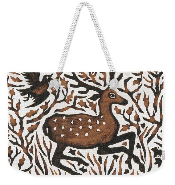 Woodland Deer Weekender Tote Bag