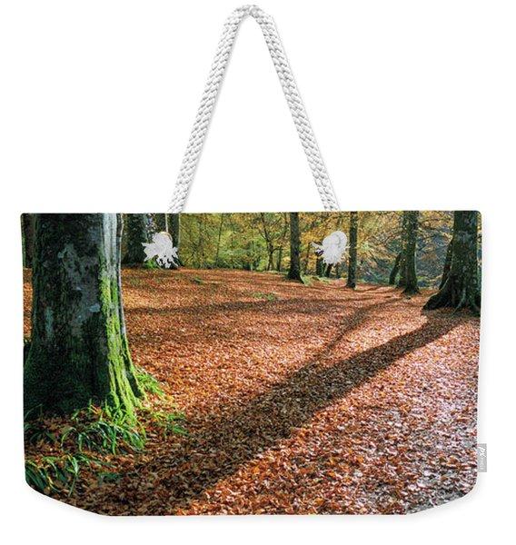 Woodland Floor In Autumn Weekender Tote Bag
