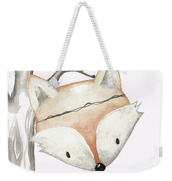 Woodland Fox Boho Baby Nursery Decor Weekender Tote Bag