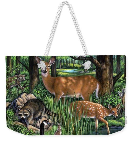 Woodland Weekender Tote Bag