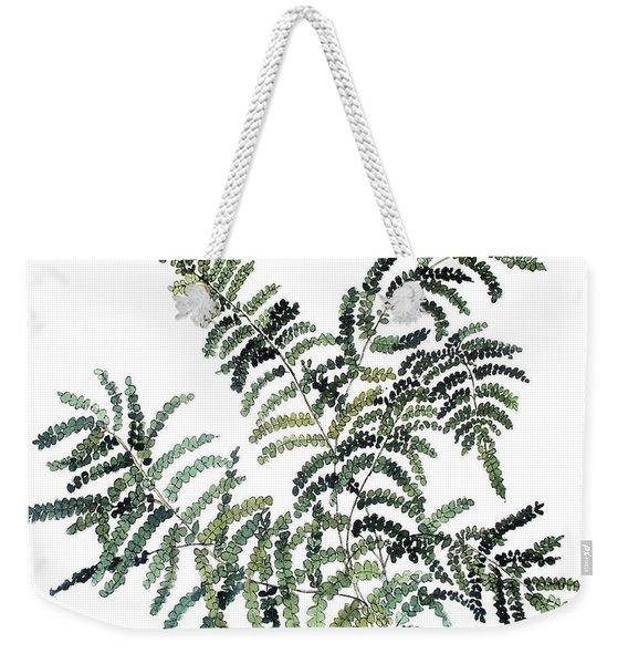 Woodland Maiden Fern Weekender Tote Bag