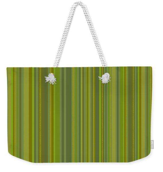 Woodland Moss - Stripes - Green Weekender Tote Bag