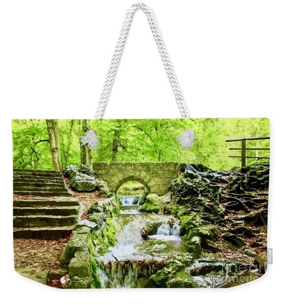 Woodland Steps And Stream Weekender Tote Bag