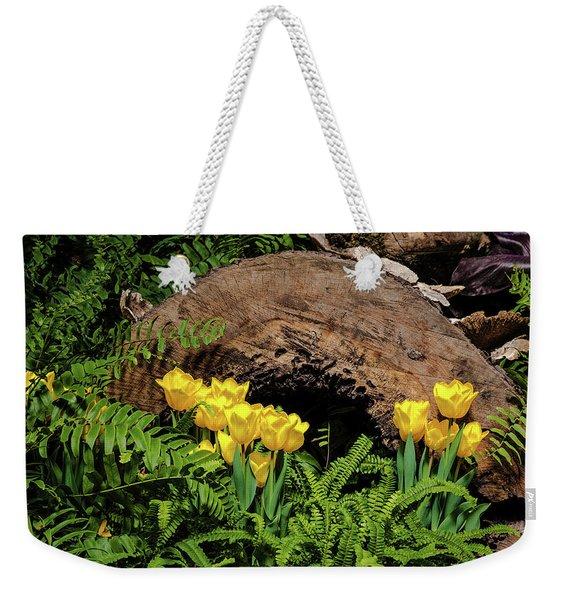 Woodland Tulip Garden Weekender Tote Bag