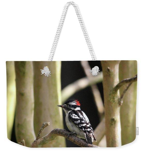 Downy Woodpecker Weekender Tote Bag