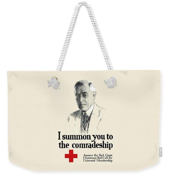 Woodrow Wison Red Cross Roll Call Weekender Tote Bag