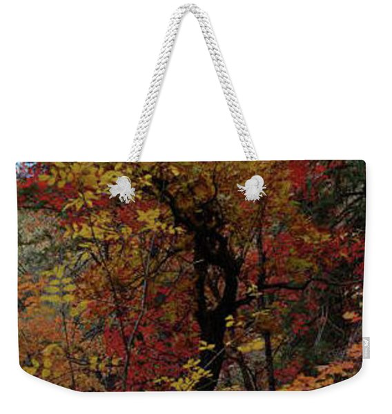 Woods In Oak Creek Canyon, Arizona Weekender Tote Bag