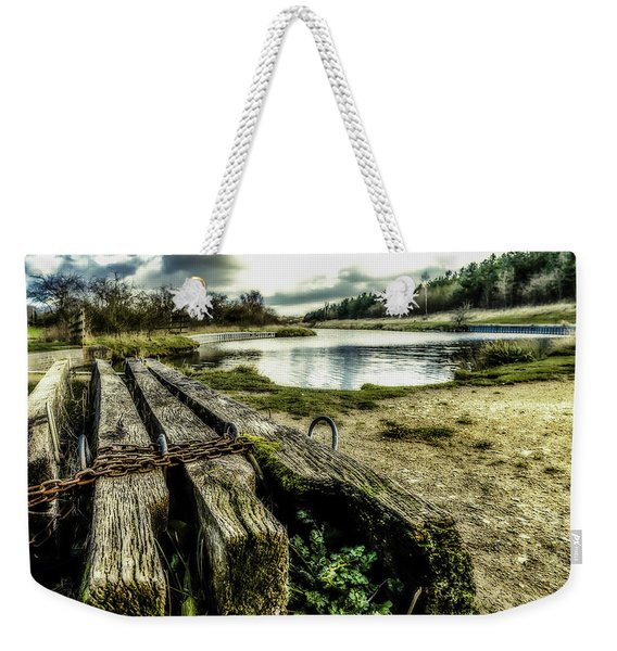 Weekender Tote Bag featuring the photograph Woodside by Nick Bywater