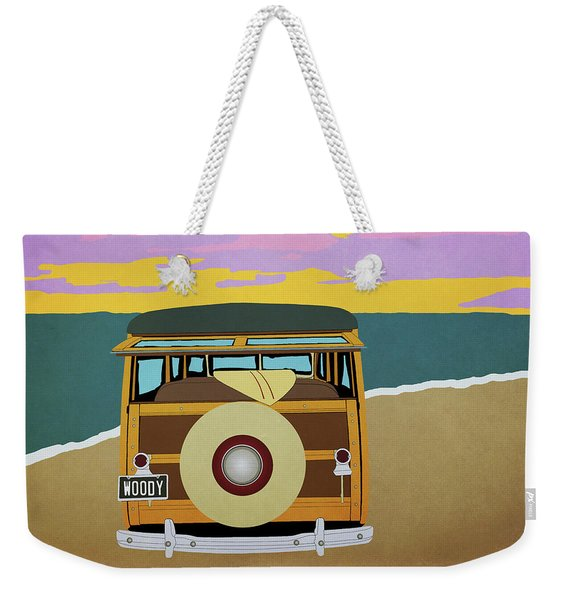 Woody At The Beach 1 Weekender Tote Bag