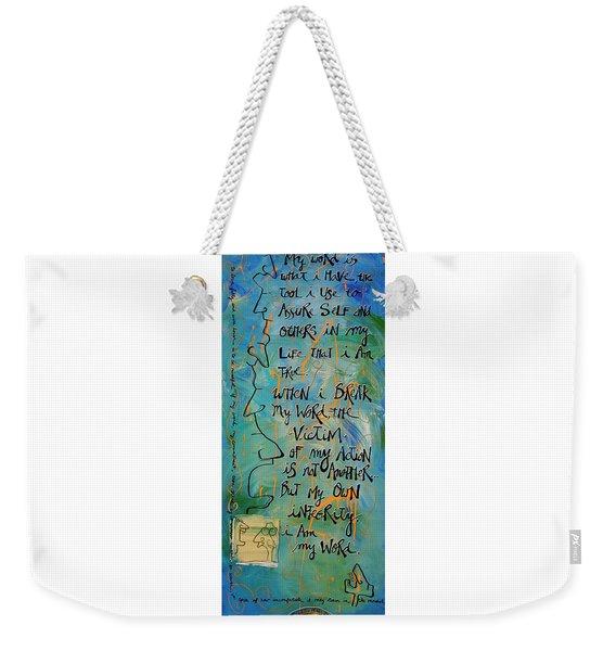 Word Weekender Tote Bag