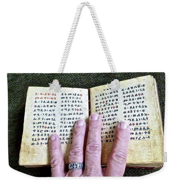 Word Of The Living God Weekender Tote Bag