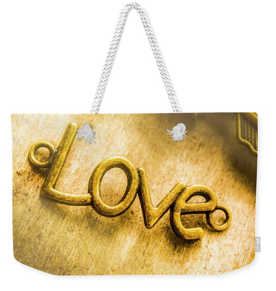 Words And Letters Of Love Weekender Tote Bag